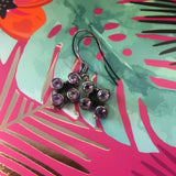 BALINESE SILVER AMETHYST DROP EARRINGS