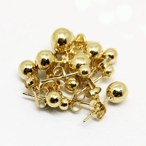 9CT GOLD BALL STUDS