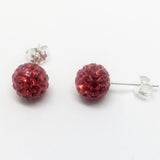 SILVER CRYSTAL DISCO BALL STUDS
