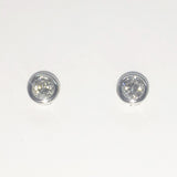 18CT WHITE GOLD DIAMOND RUBOVER SET STUDS