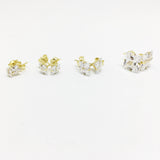 9CT GOLD SQUARE CUBIC ZIRCONIA STUDS
