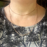 ROSE GOLD PLATED SILVER FANCY MICRO RAINDROP CHAIN