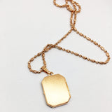 9CT ROSE GOLD RECTANGULAR LOCKET - FREE ENGRAVING