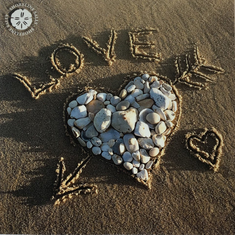 SHORELINE SALLY GREETINGS CARD - LOVE ROCKS