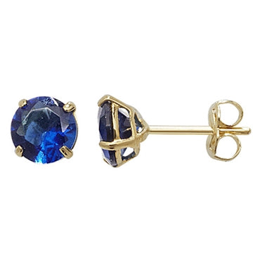 9CT GOLD SAPPHIRE BIRTHSTONE STUDS - SEPTEMBER