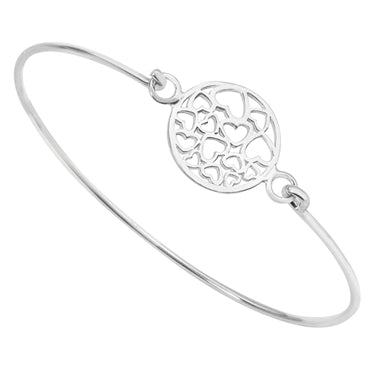 SILVER HEART DETAIL BANGLE