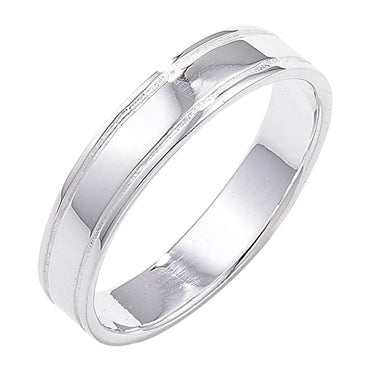 SILVER GROOVED 5MM BAND/ STACKING RING