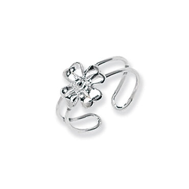 SILVER FLOWER TOE RING / CHILD'S RING