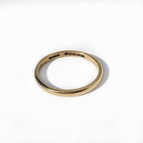 9CT GOLD VINTAGE 2MM WEDDING BAND
