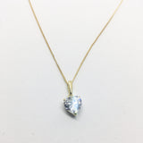 9CT GOLD CUBIC ZIRCONIA HEART BASKET PENDANT