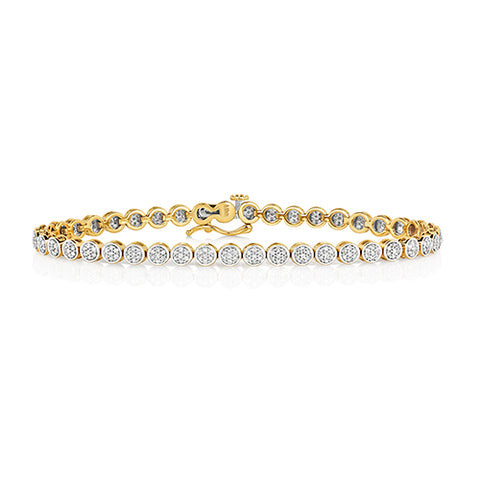 9CT GOLD 1CT DIAMOND TENNIS BRACELET