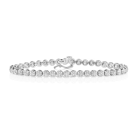9CT WHITE GOLD 1CT DIAMOND TENNIS BRACELET