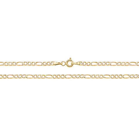 9CT GOLD FINE FIGARO ANKLE CHAIN