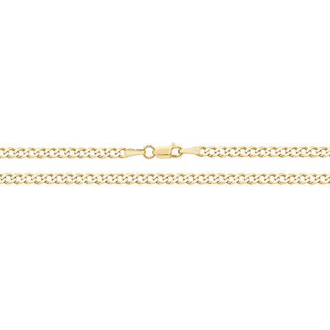9CT GOLD FINE CURB ANKLET