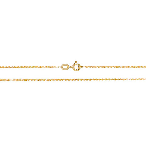 9CT GOLD FINE DIAMOND CUT PRINCE OF WALES CHAIN