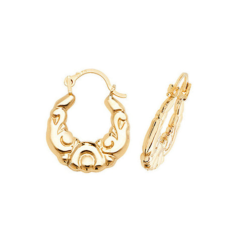 9CT YELLOW GOLD BABY/CHILD CREOLE EARRINGS