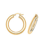 9CT GOLD TUBULAR HOOP EARRINGS