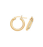 9CT YELLOW GOLD FINE TUBULAR HOOP EARRINGS