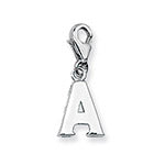 SILVER INITIAL ON LOBSTER - PENDANT OR CHARM
