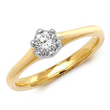 18CT GOLD SIX CLAW DIAMOND SOLITAIRE
