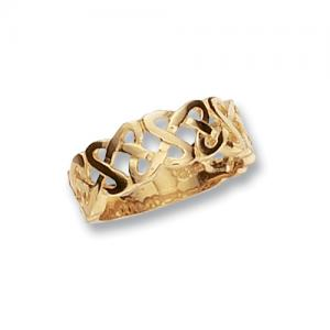 9CT GOLD CELTIC KNOTWORK BAND