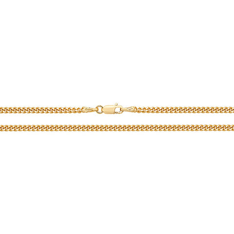 9CT GOLD 2.5MM CLOSE CURB CHAIN