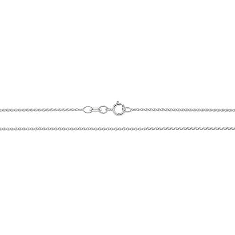 9CT WHITE GOLD SINGLE LINK WHEAT CHAIN
