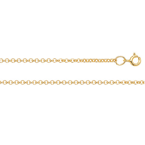 9CT GOLD 2.3MM ROUND BELCHER CHAIN
