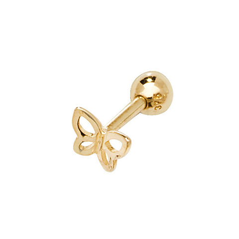 9CT GOLD BUTTERFLY CARTILAGE STUD