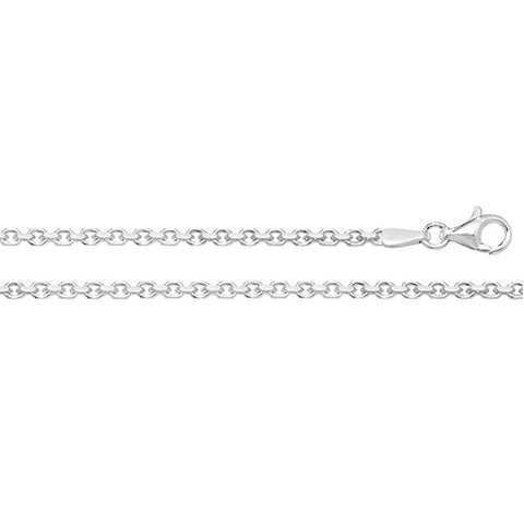 SILVER 2.2MM FACETED BELCHER CHAIN