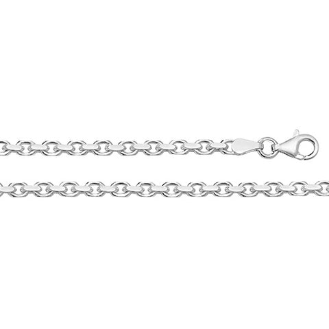 SILVER 3.5MM FACETED BELCHER CHAIN