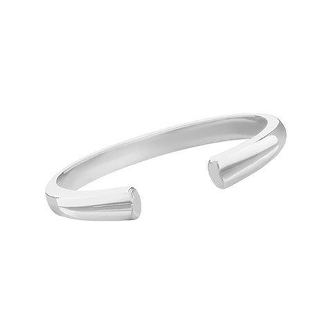 SILVER OPEN STACKER RING