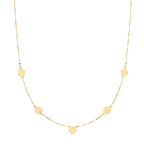 9CT GOLD DISC NECKLET