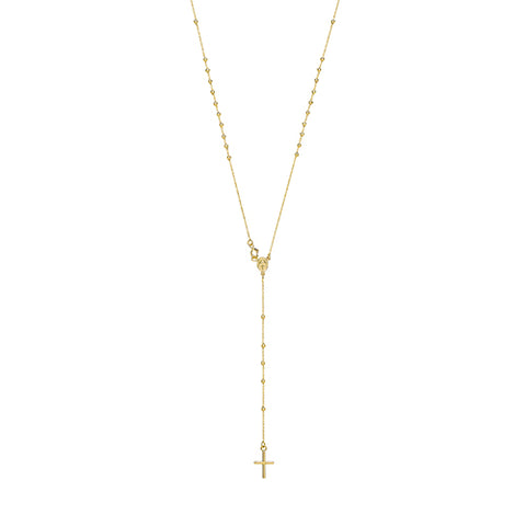 9CT GOLD ROSARY NECKLACE