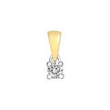 9CT GOLD 4 CLAW DIAMOND SOLITAIRE PENDANT