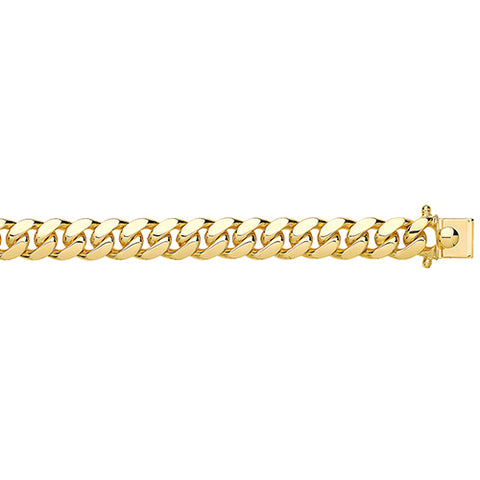 9CT GOLD SOLID CUBAN 350 GAUGE BRACELET