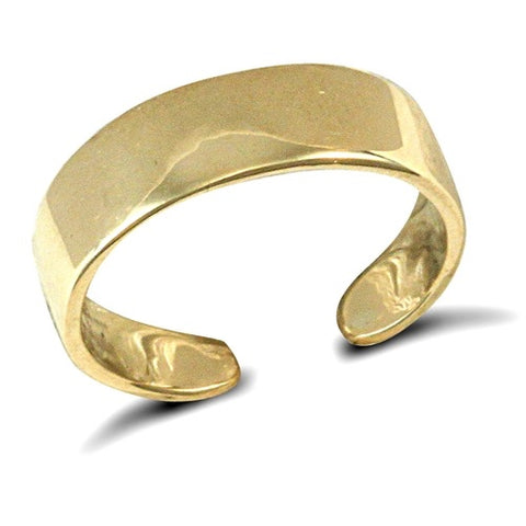 9CT GOLD FLAT BAND OPEN TOE RING