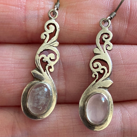 PRELOVED SILVER MOONSTONE DROPS