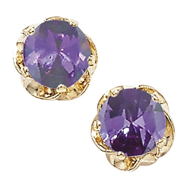 9CT GOLD GEMSTONE STUD EARRINGS