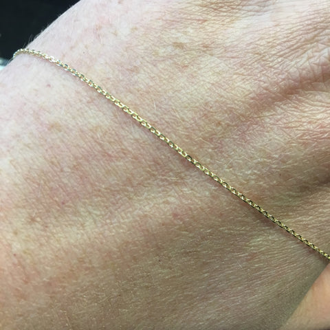 9CT GOLD DIAMOND CUT CABLE CHAIN