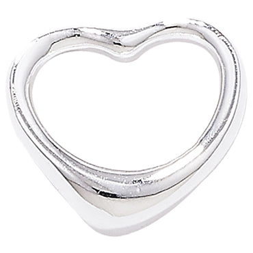SILVER FLOATING HEART PENDANT