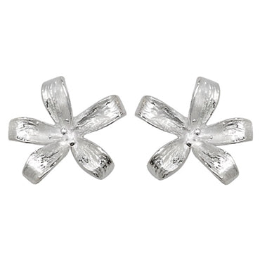 SILVER LILY STUD EARRINGS