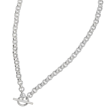 SILVER BELCHER T-BAR ALBERT NECKLACE