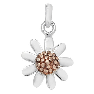 SILVER & ROSE GOLD PLATED DAISY PENDANT/EARRINGS