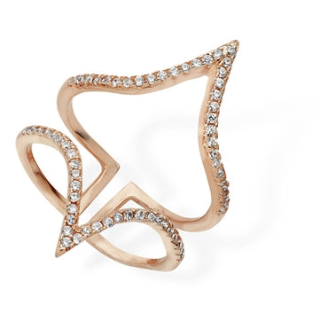 ROSE GOLD VERMEIL CUBIC ZIRCONIA JACKET RING