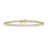 9CT GOLD DIAMOND TENNIS BRACELET