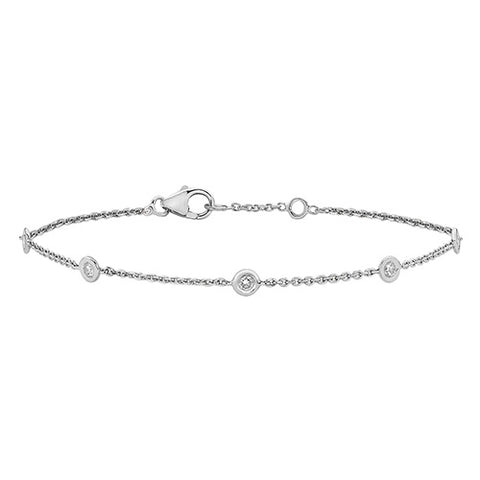 18CT WHITE GOLD .35CT DIAMOND BRACELET