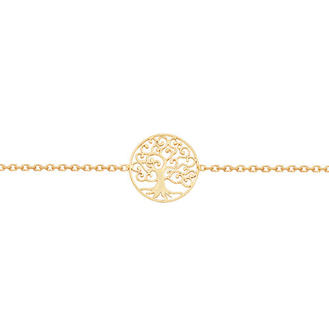 9CT GOLD TREE OF LIFE BRACELET