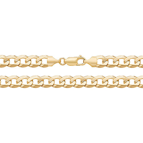 9CT FLAT BEVELLED CURB BRACELET