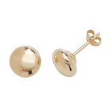 9CT GOLD BUTTON STUDS